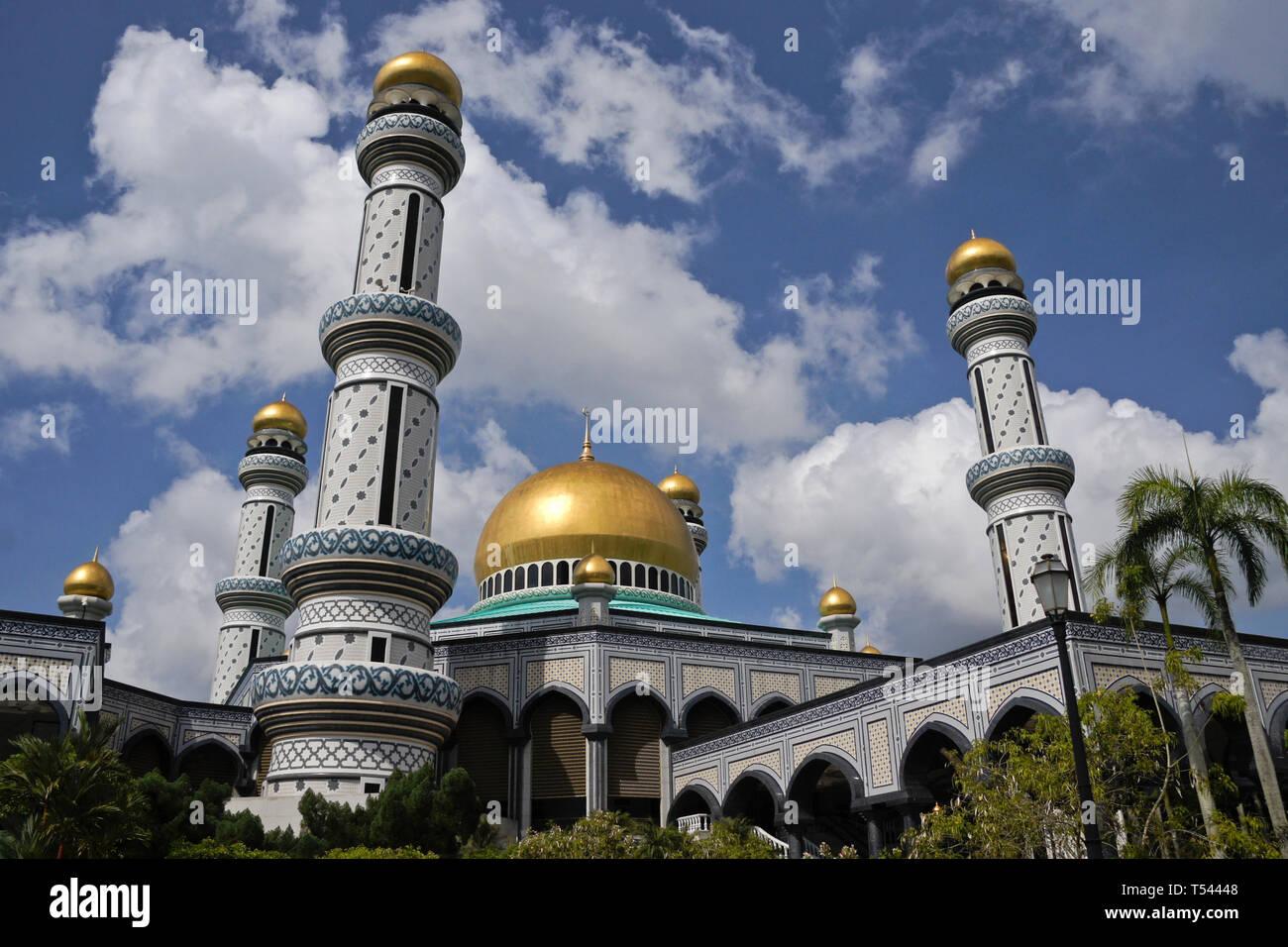 Jame' Asr Hassanil Bolkiah Mosque, Bandar Seri Begawan, Sultanate of Brunei - Stock Image