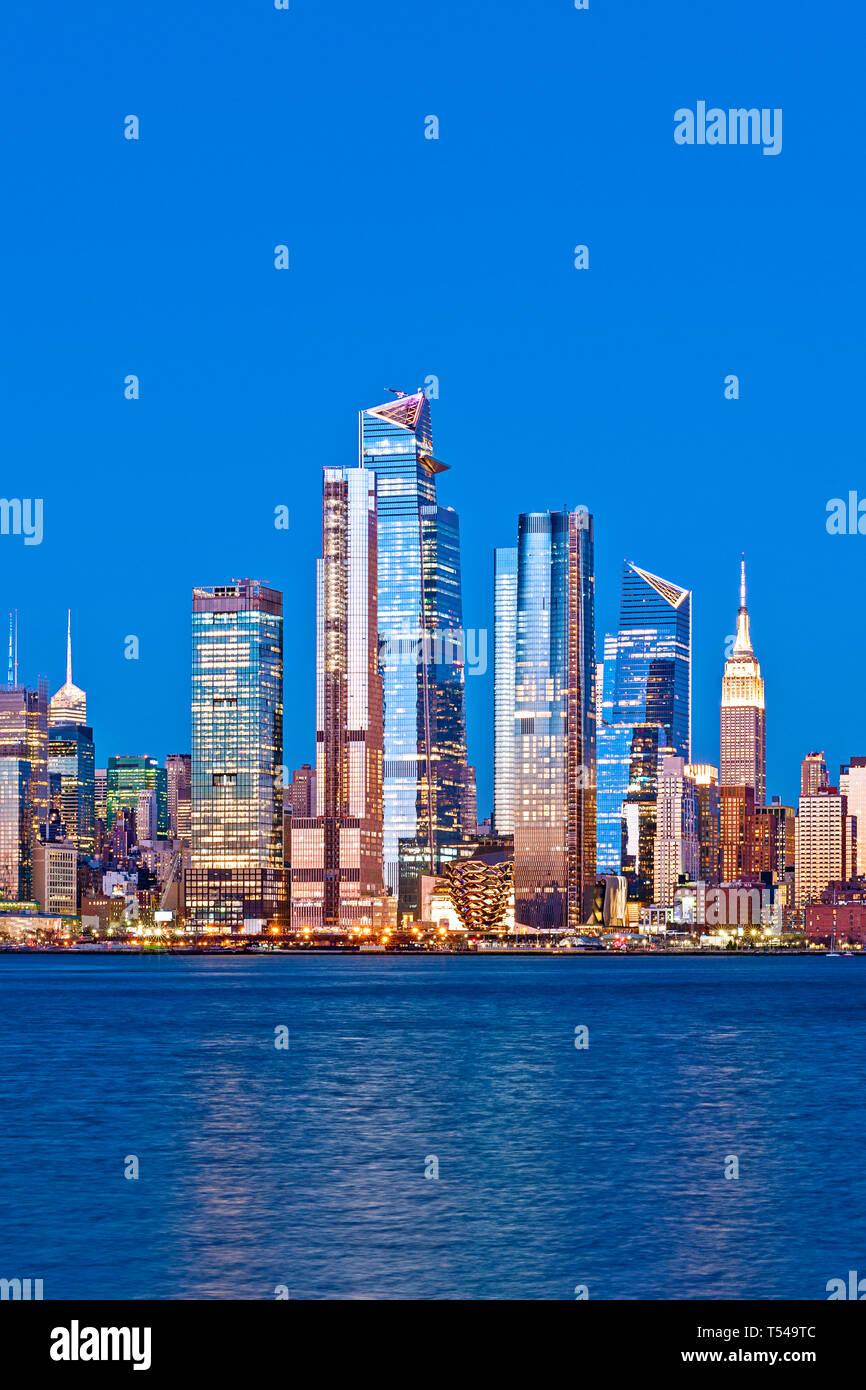 New York Skyline Hudson Yards West Side Stock Photo