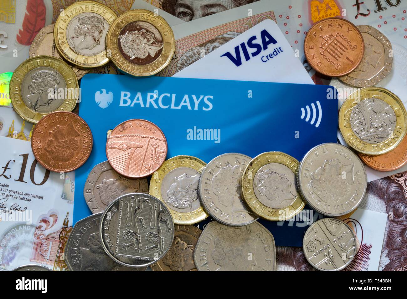 Money and Credit Cards - Stock Image