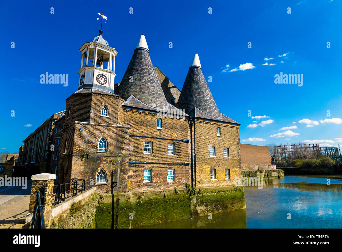 Three Mills (Clock Mill) in Bow, London, UK - Stock Image