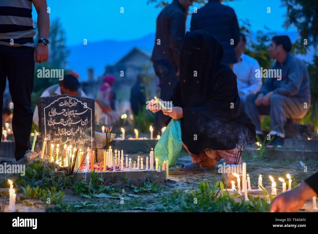 Srinagar, India  20th Apr, 2019  A Kashmiri Shia Muslim