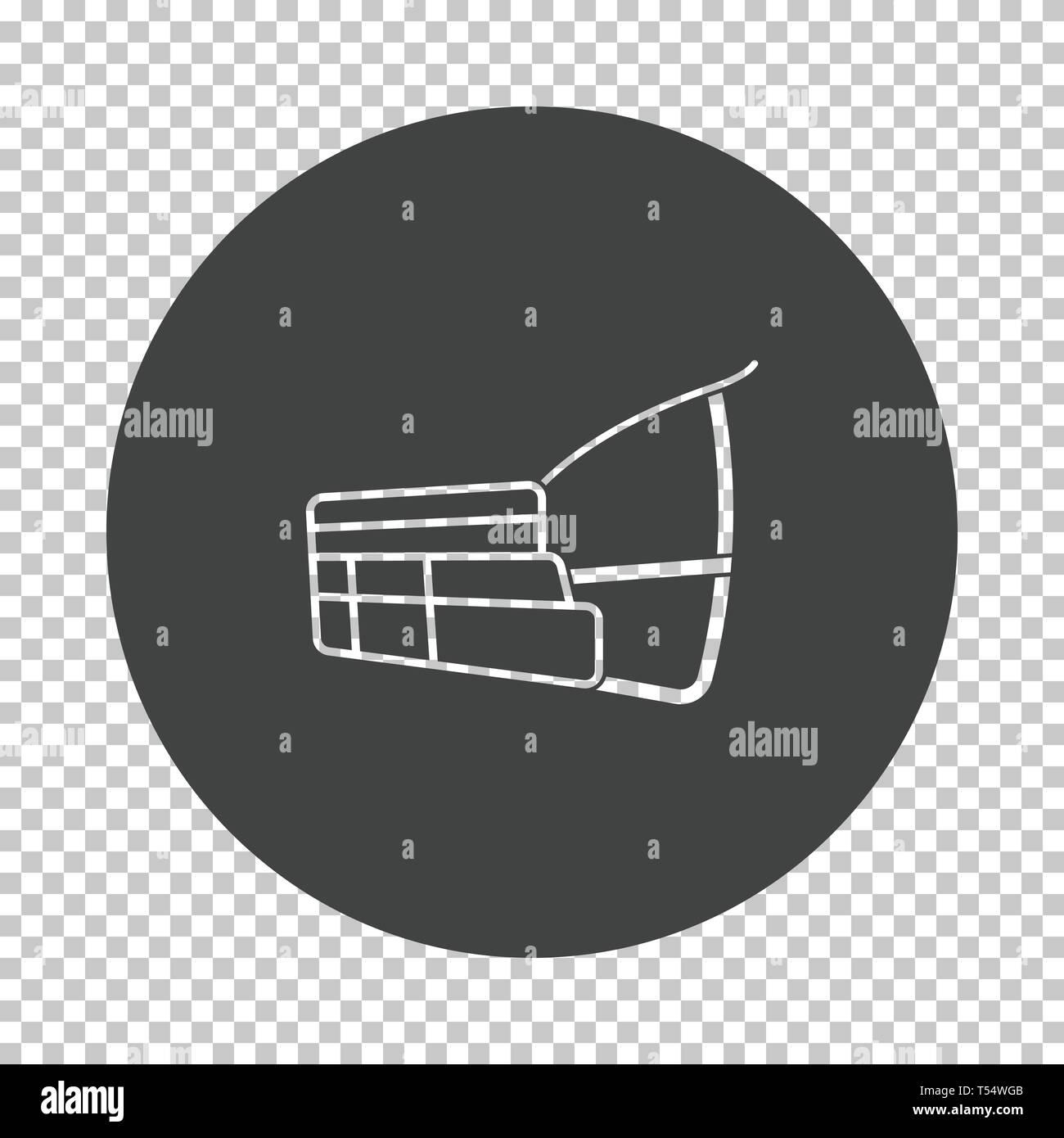 Dog muzzle icon. Subtract stencil design on tranparency grid. Vector illustration. Stock Vector