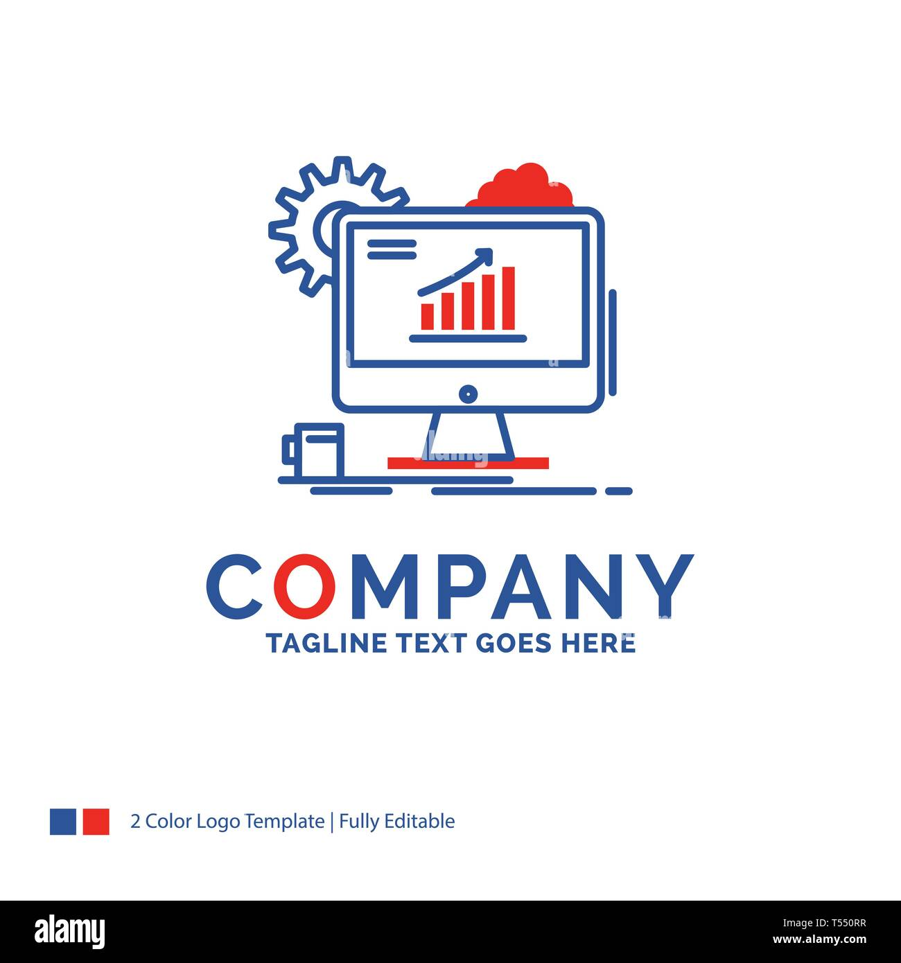 Company Name Logo Design For Analytics Chart Seo Web Setting Blue And Red Brand Name Design With Place For Tagline Abstract Creative Logo Templa Stock Vector Image Art Alamy