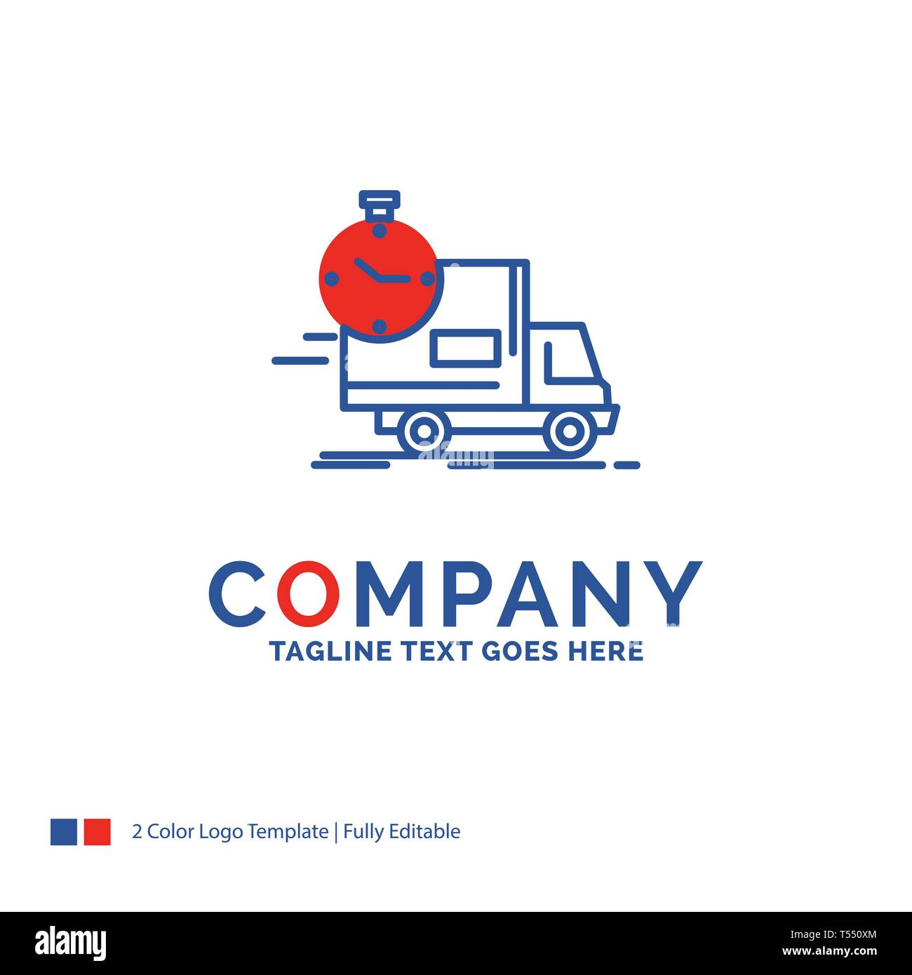 Company Name Logo Design For delivery, time, shipping