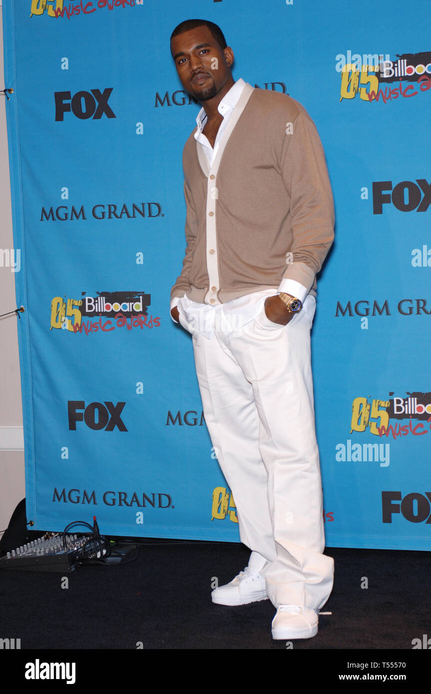 LAS VEGAS, NV. December 06, 2005: KANYE WEST at the 2005 Billboard Music Awards at the MGM Grand, Las Vegas. © Paul Smith / Featureflash Stock Photo