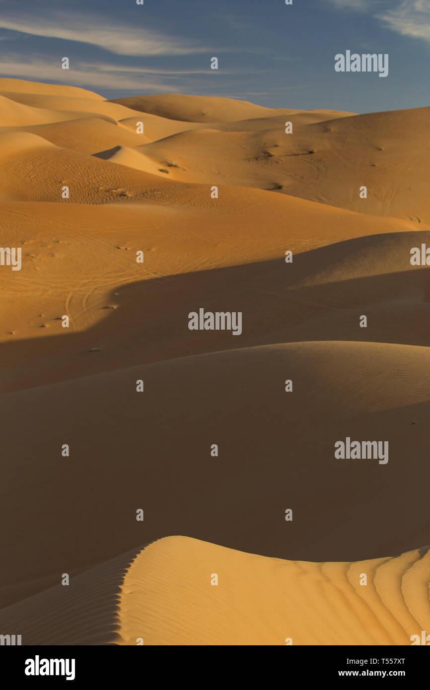 UAE, Abu Dhabi Province, Liwa Oasis, Rub Al Khali desert (Empty Quarter) - Stock Image