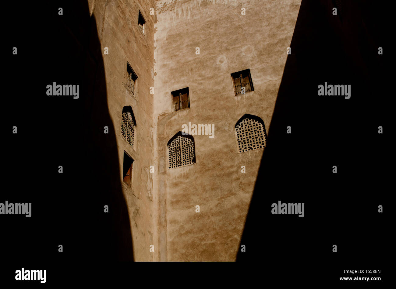 Jabreen or Jibreen Castle A 17th Century Omani fort near Bahla in Al Dakhiyah governorate Oman. Stock Photo