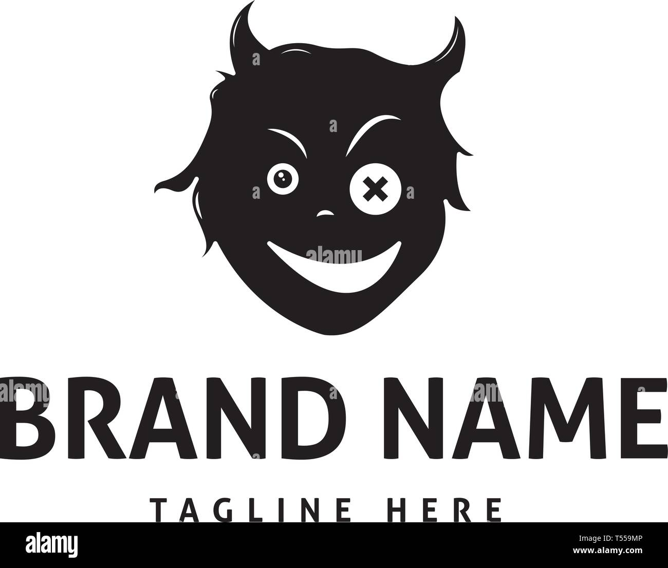 devil logo high resolution stock photography and images alamy https www alamy com devil face abstract black vector logo design image244135830 html