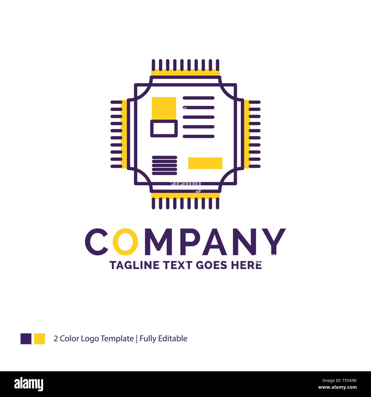 Company Name Logo Design For Chip, cpu, microchip, processor