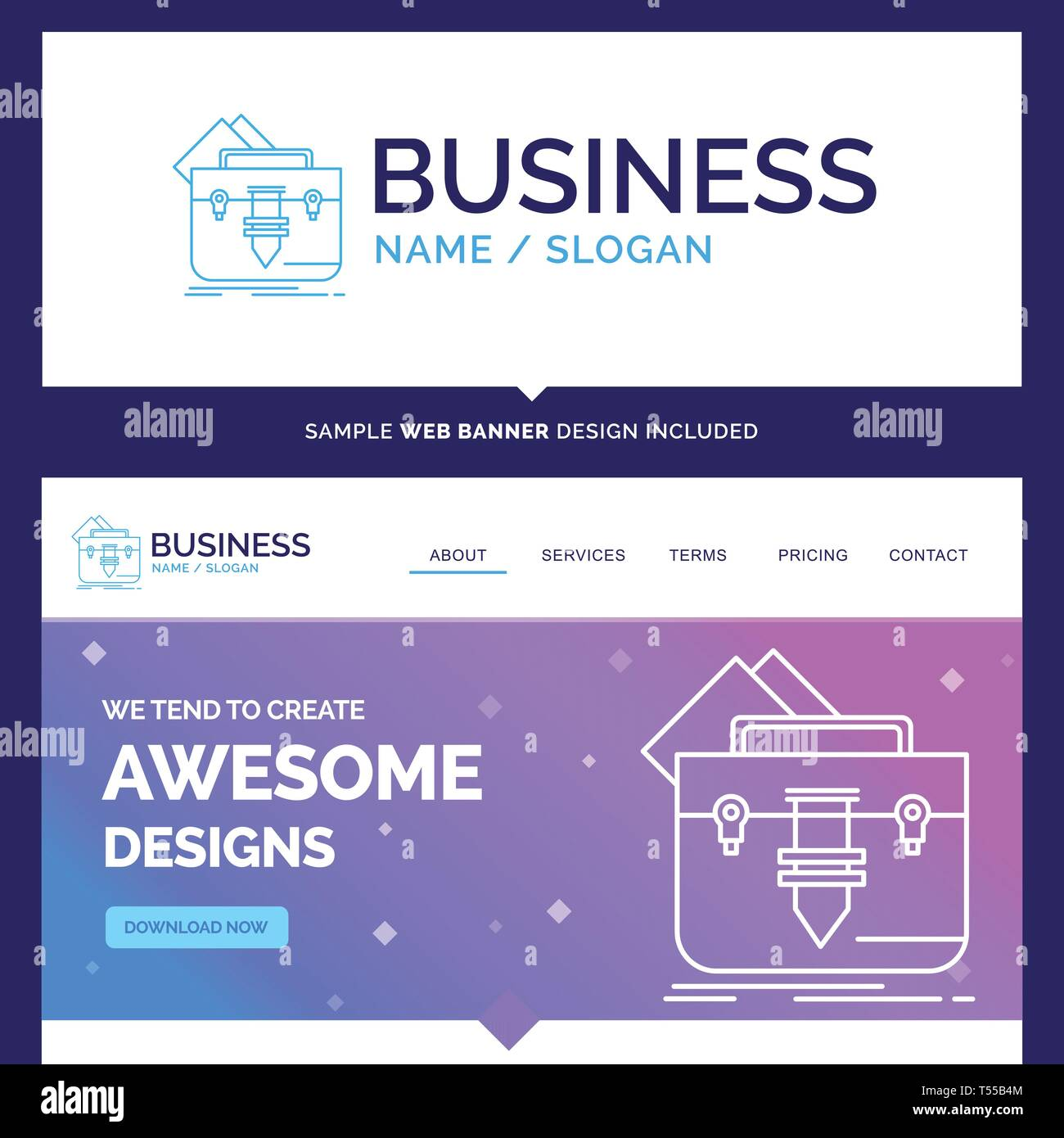 Beautiful Business Concept Brand Name Portfolio Bag File