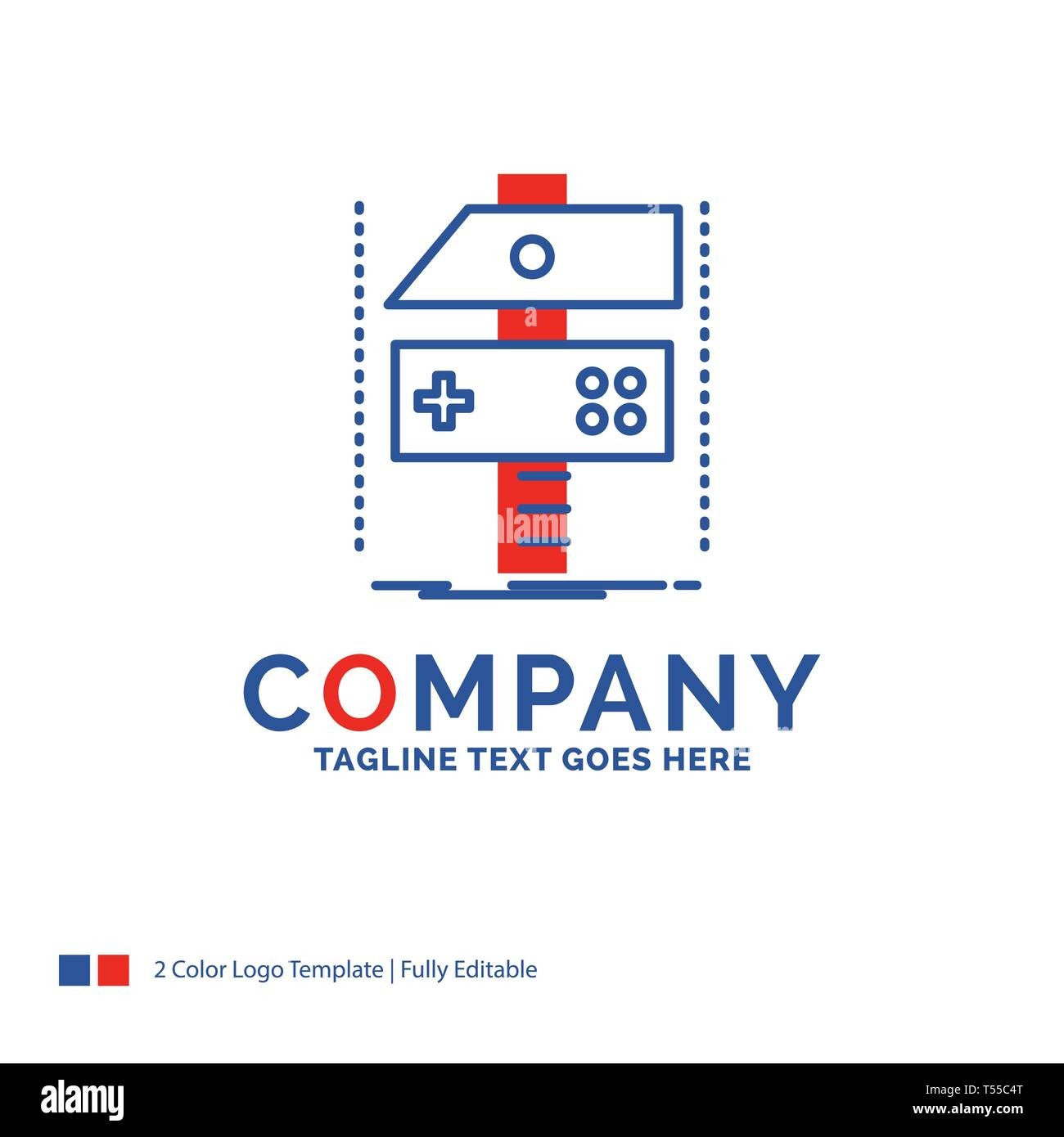 Company Name Logo Design For Build Craft Develop Developer Game Blue And Red Brand Name Design With Place For Tagline Abstract Creative Logo Tem Stock Vector Image Art Alamy