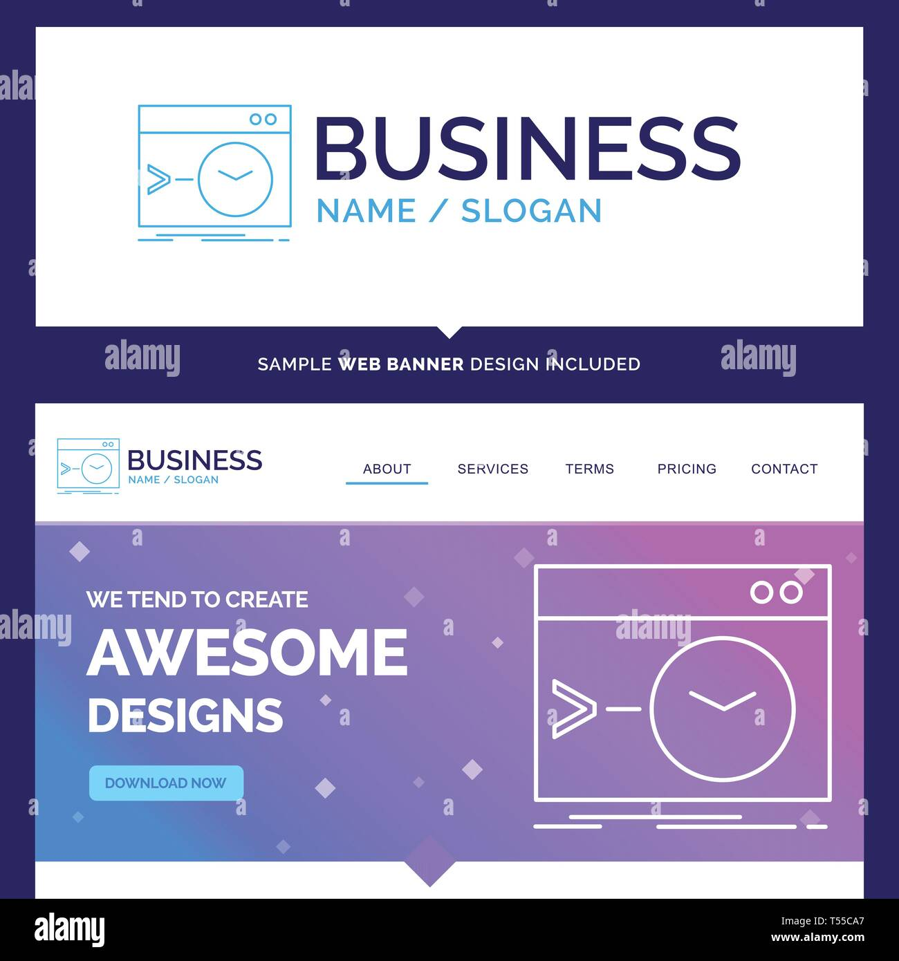 Beautiful Business Concept Brand Name Admin, command, root