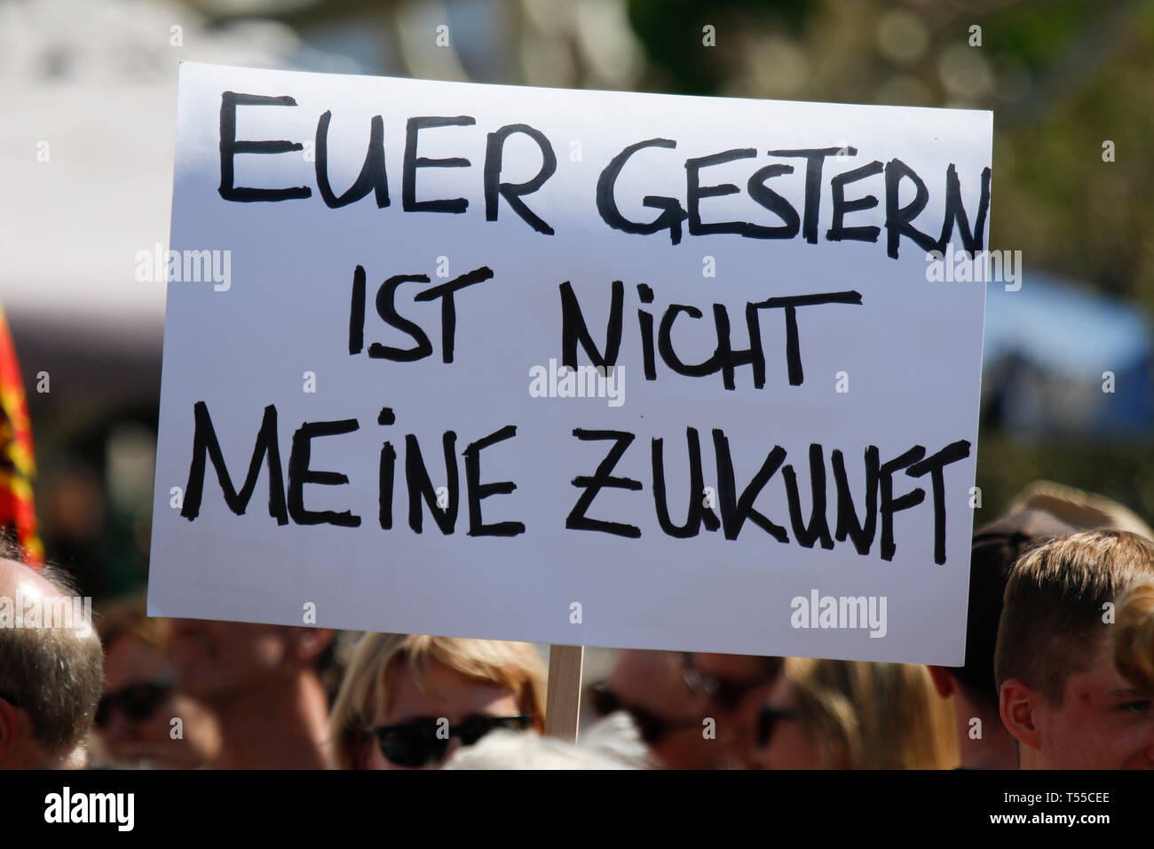 Ingelheim Am Rhein, Germany  20th Apr, 2019  A protester