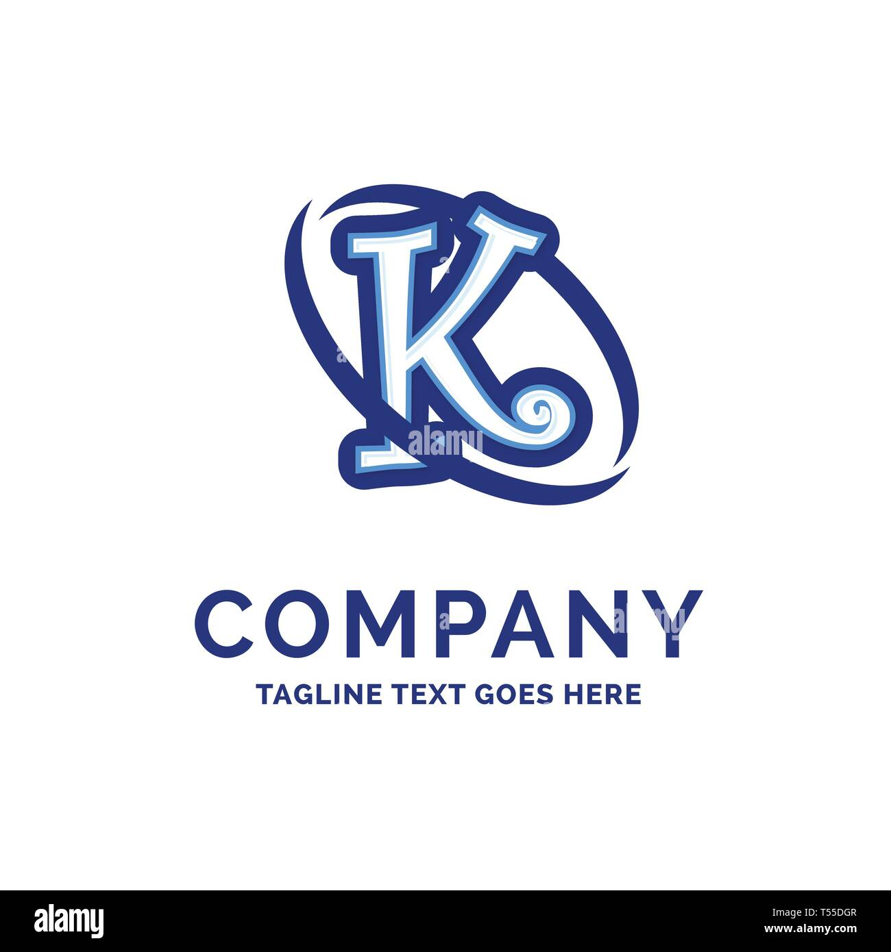 K Company Name Design Blue Logo Design Logo Template Brand