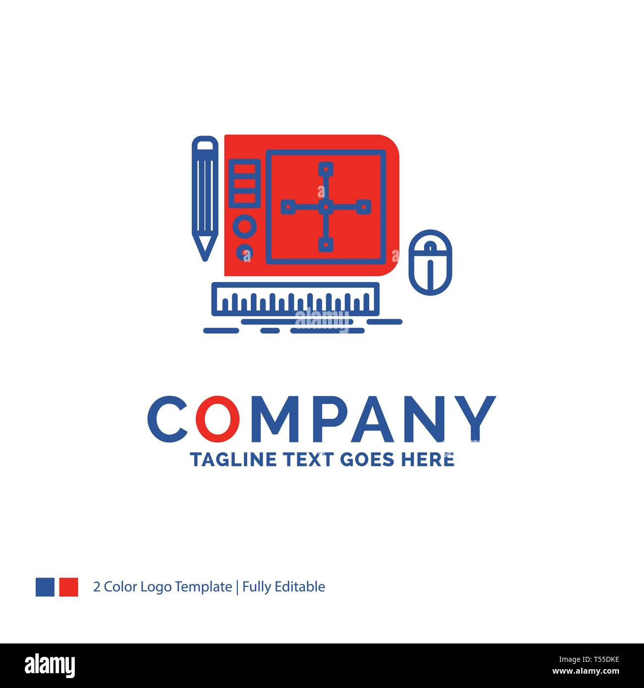 Company Name Logo Design For Design Graphic Tool Software Web Designing Blue And Red Brand Name Design With Place For Tagline Abstract Creative Stock Vector Image Art Alamy