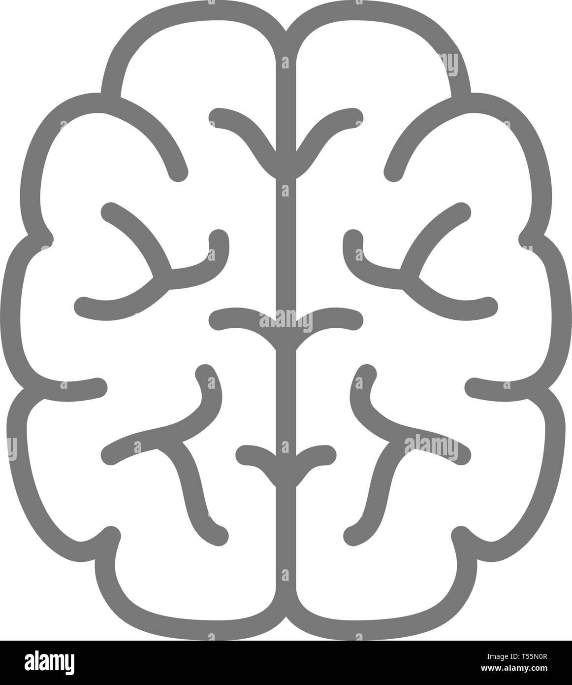 Brain, mind, intelligence line icon. - Stock Image