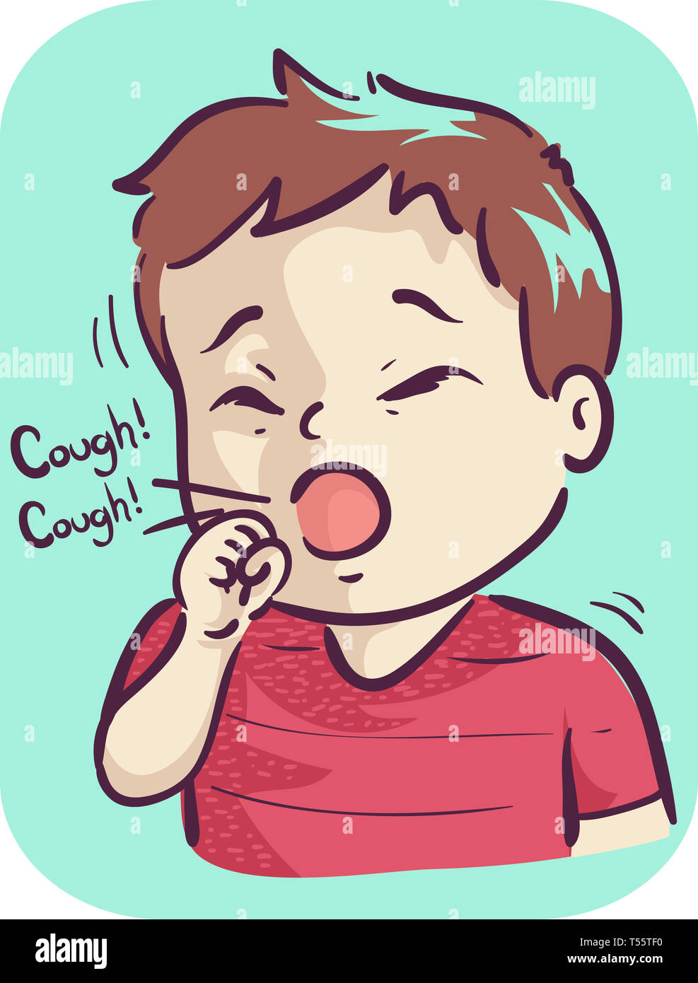 boy cough cartoon illustration high resolution stock photography and images alamy https www alamy com illustration of a kid boy toddler coughing image244147428 html