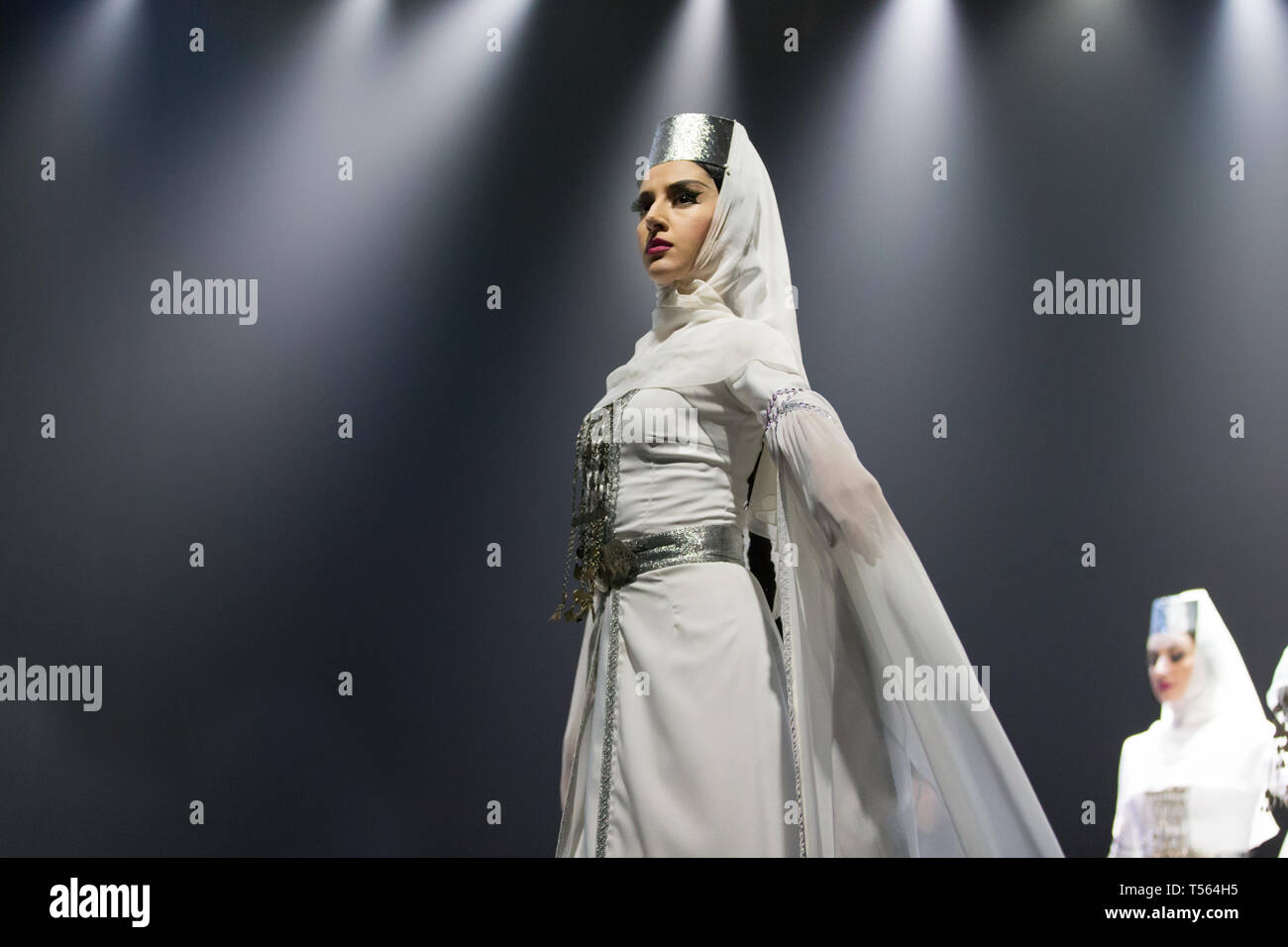 Belarus, Gomel, February 27, 2018. Concert hall. Speech of the national Georgian ballet Sukhishvili - Stock Image