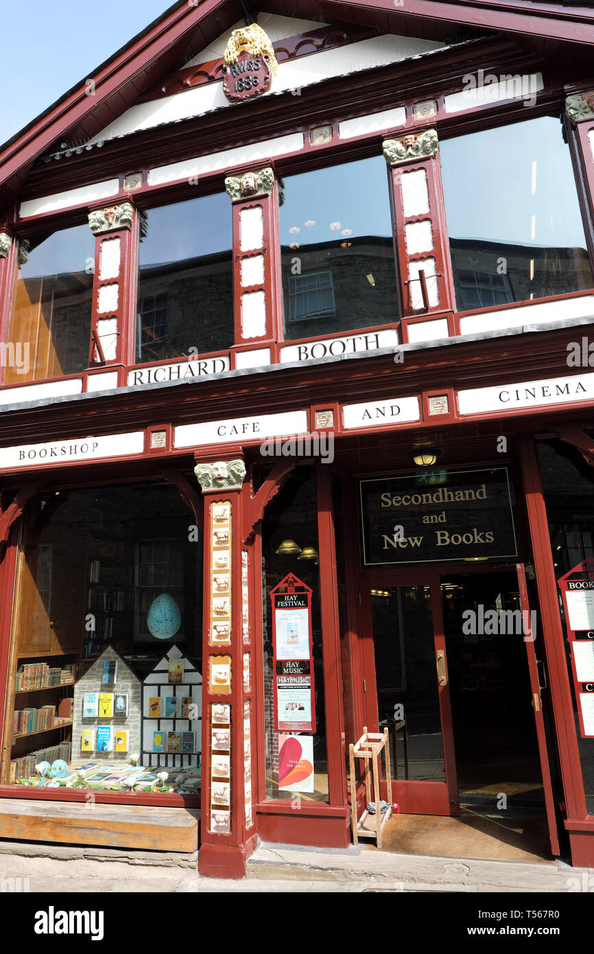 Hay on Wye the famous Richard Booth bookshop in Hay-on-Wye Powys Wales UK in 2019 - Stock Image
