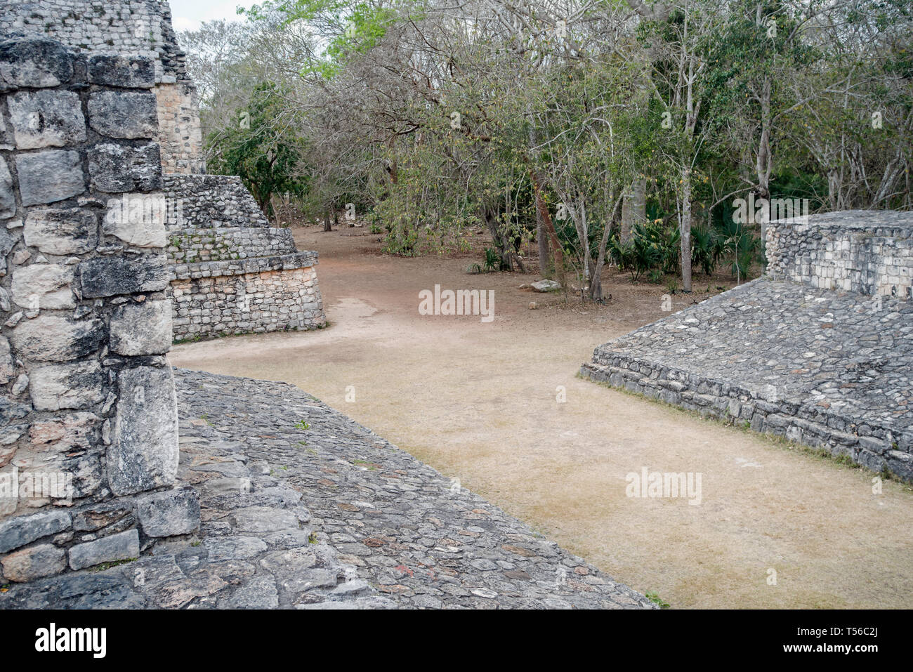 Mayan Ballcourt at Ek Balam - Stock Image