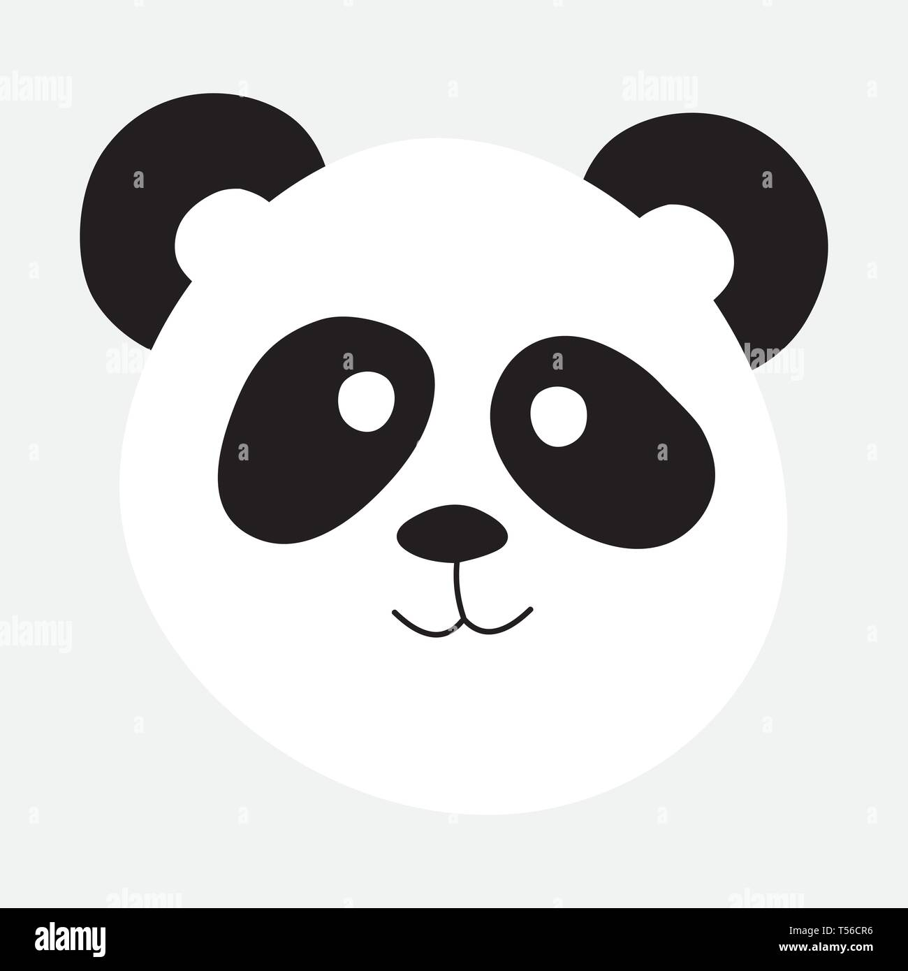 9873d38f5b3 Panda bear portrait vector illustration - Stock Vector