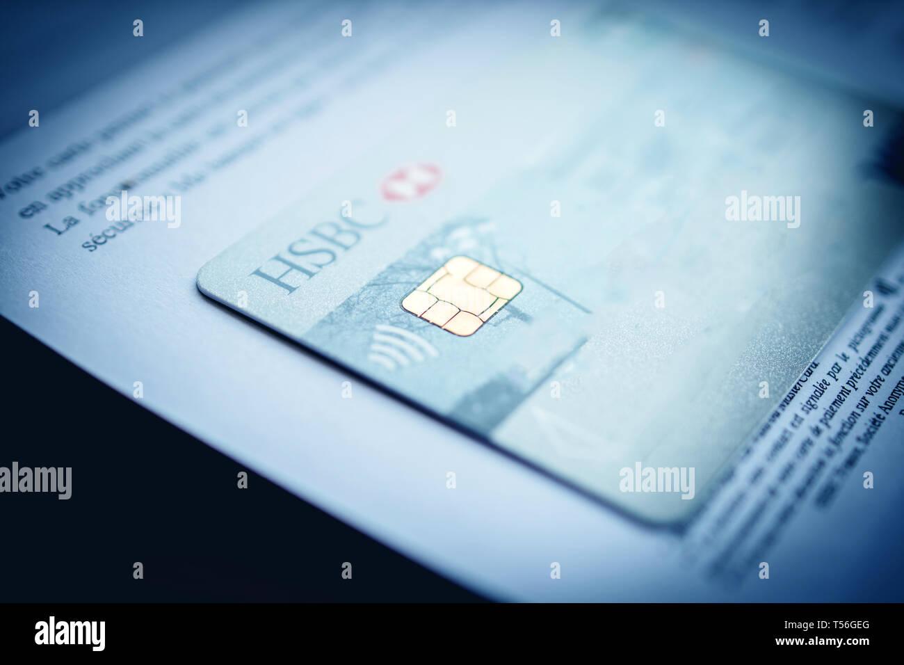 Hsbc Bank Debit Card Close Stock Photos & Hsbc Bank Debit