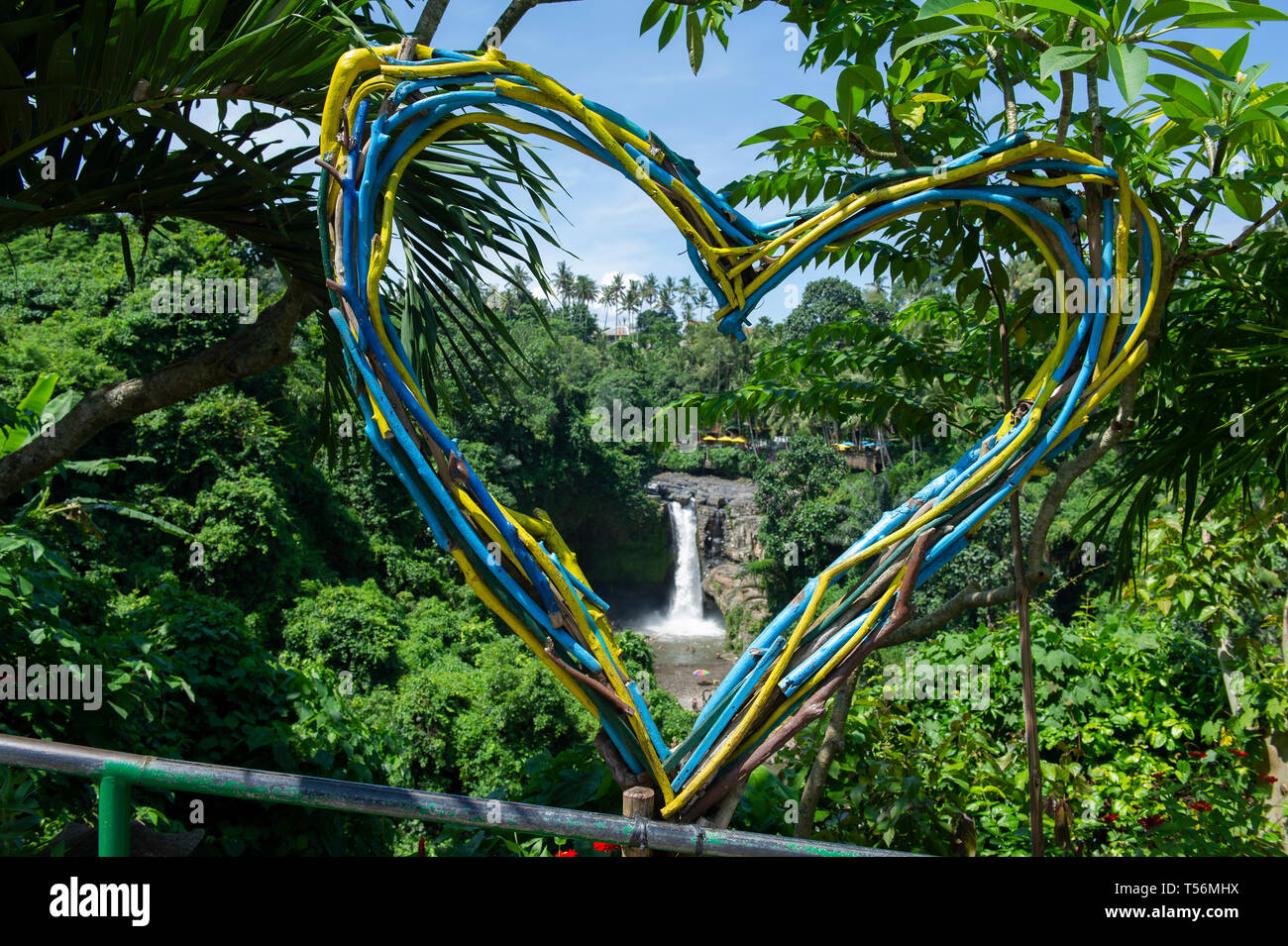 Tegenungan Waterfall near Ubud in Bali, Indonesia - Stock Image