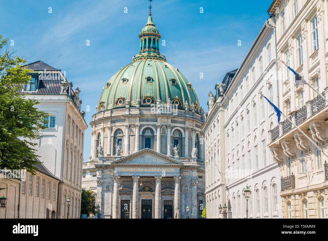 The Marble church in Copenhagen - Stock Image