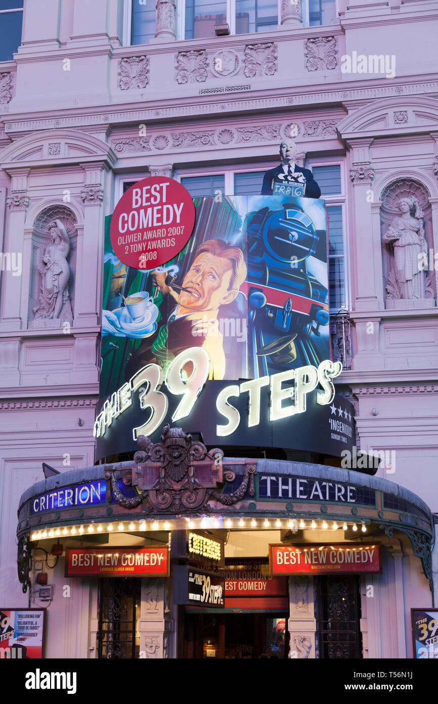 The Criterion Theatre currently running 'The 39 steps', London, UK. - Stock Image