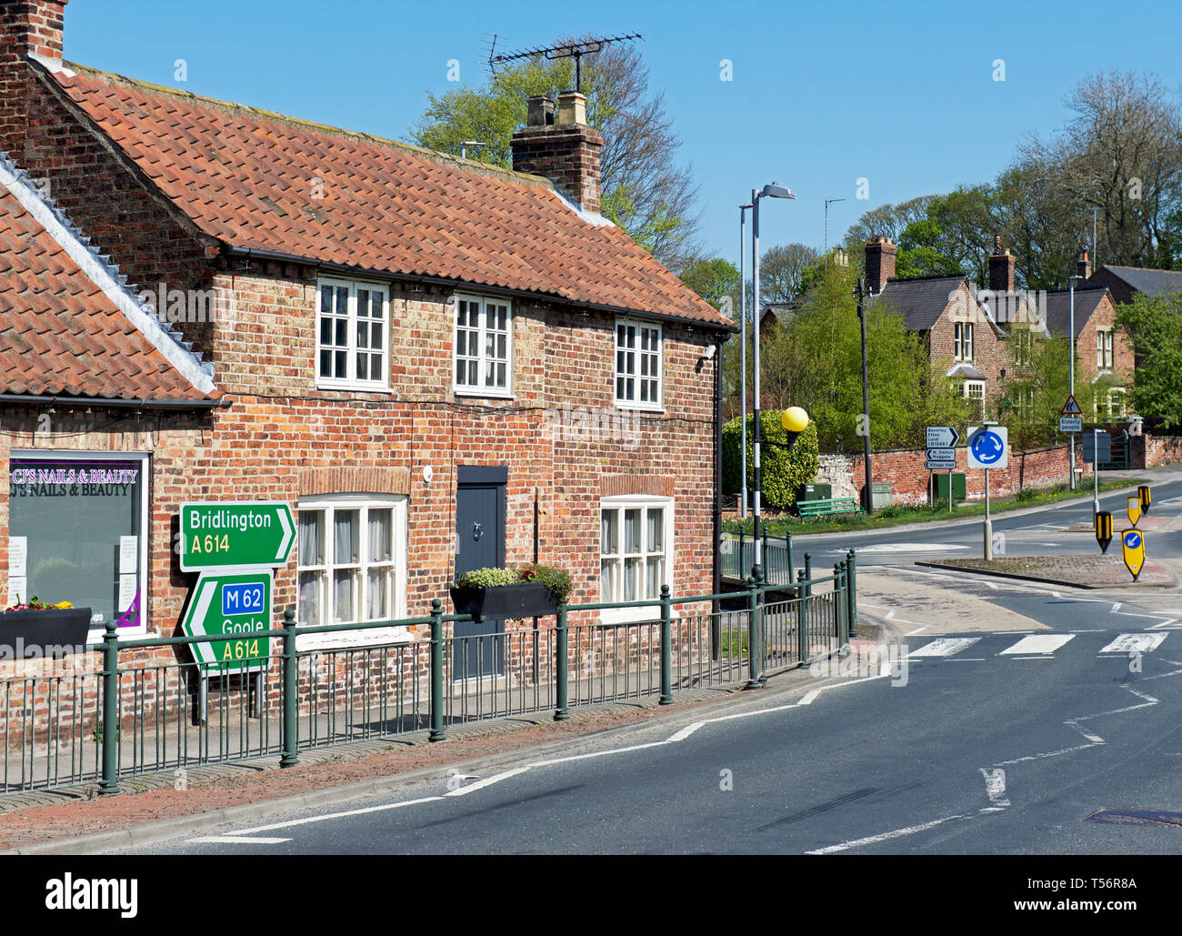 House in the village of Middleton on the Wolds, East Yorkshire, England UK - Stock Image