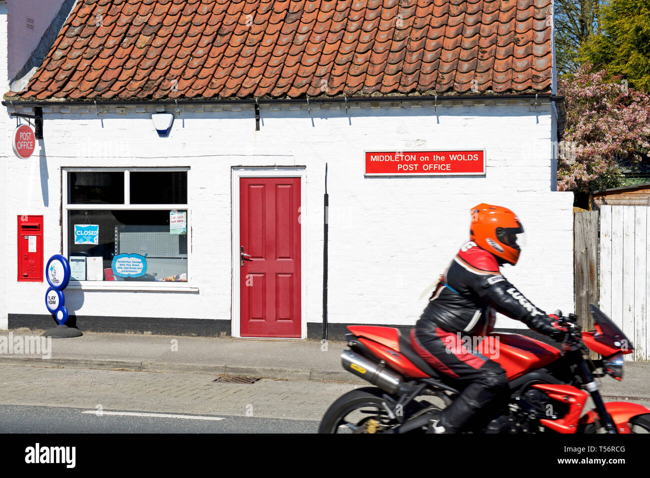 Post Office in the village of Middleton on the Wolds, East Yorkshire, England UK - Stock Image