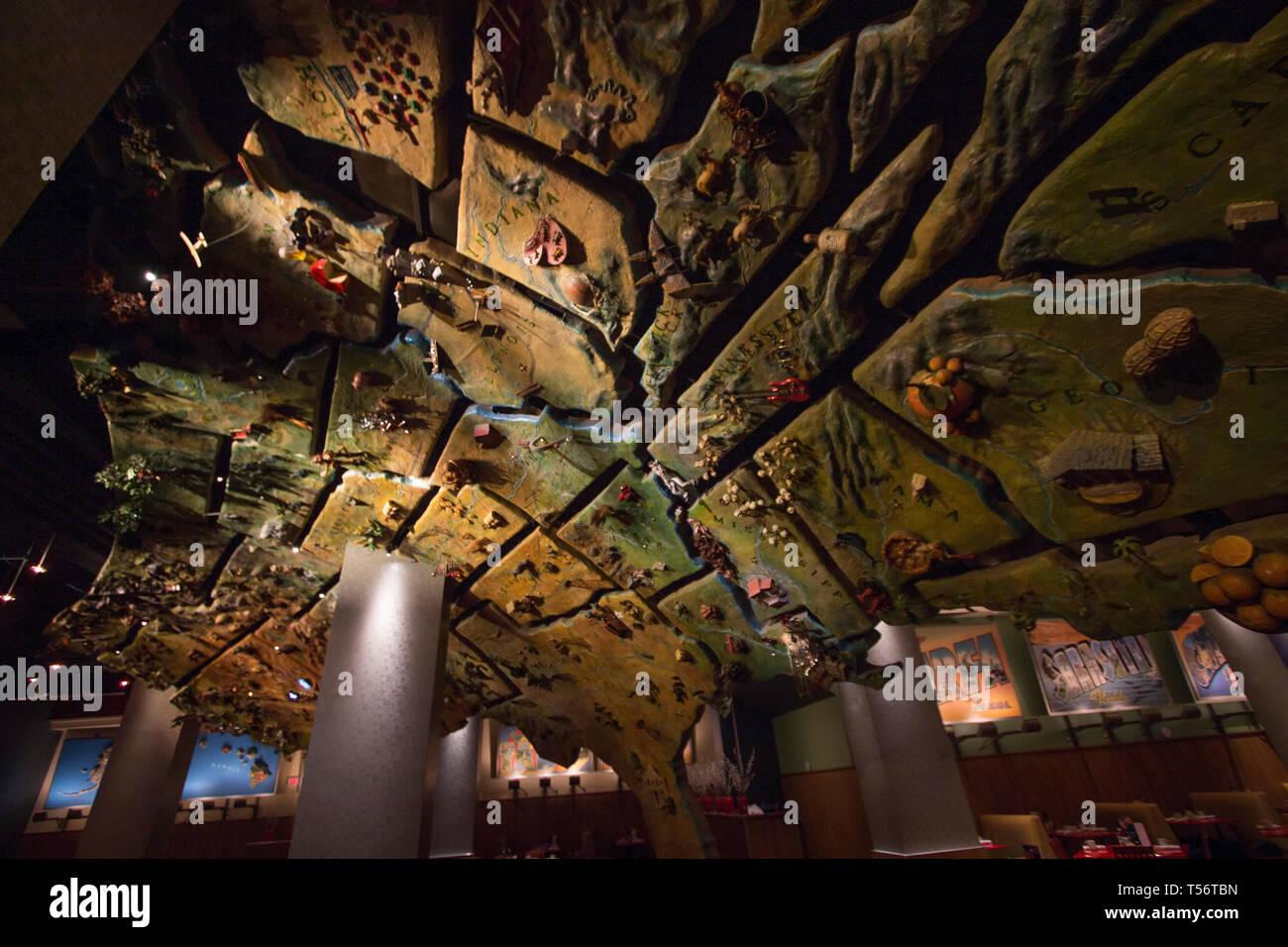 Map Of New York New York Casino.America Restaurant In The New York New York Resort Casino In Las