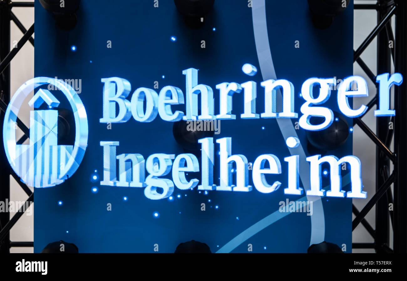 Ingelheim, Germany  18th Apr, 2019  The lettering of the