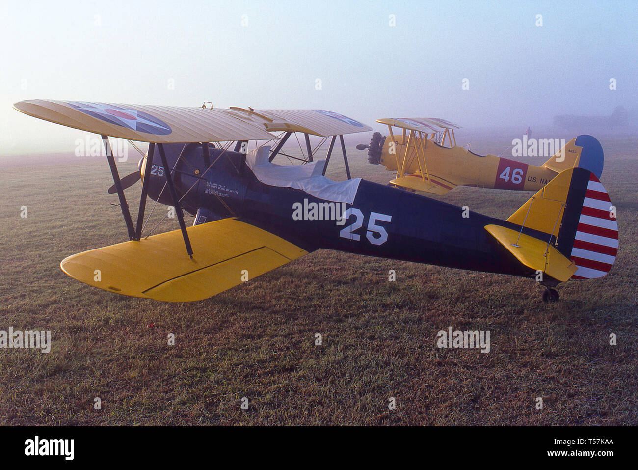 WWII military training airplanes, - Stock Image