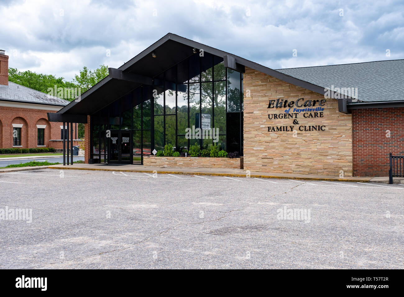 HOPE MILLS, NC - CIRCA April 2019 : Elite Care of Fayetteville Urgent Care Family Clinic Stock Photo
