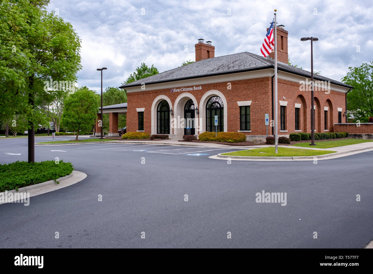 HOPE MILLS, NC - CIRCA April 2019: First Citizens Bank Main Street Stock Photo