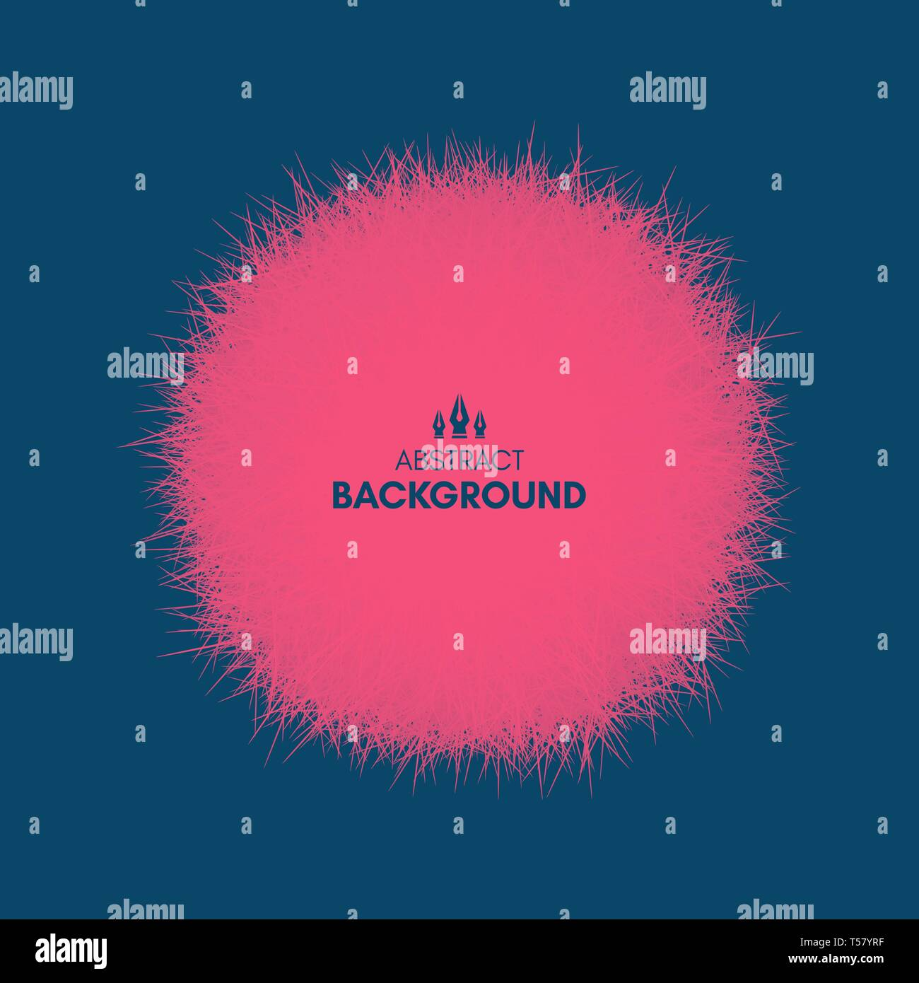 The sphere consisting of chaotic lines. Vector realistic fluffy element. - Stock Vector