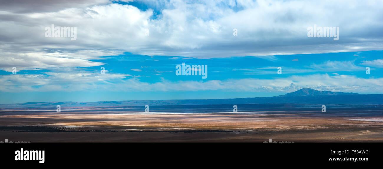View of The Atacama Salt Lake (Salar de Atacama) in the Atacama Desert, Chile Stock Photo