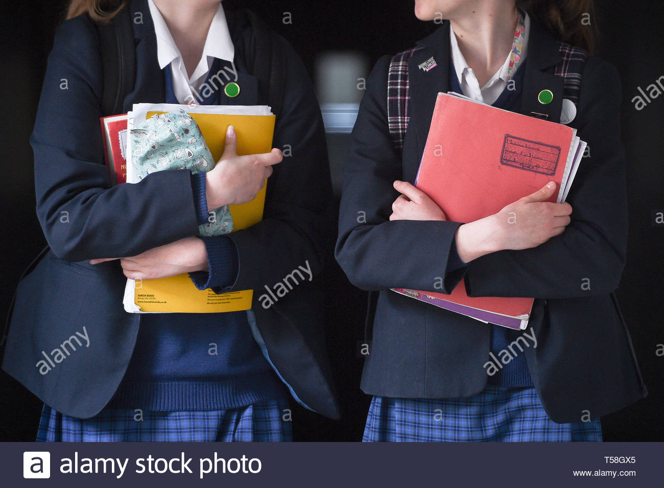 Embargoed to 0001 Tuesday April 23 File photo dated 12/09/18 of students walking along a corridor. MSPs have indicated the Scottish Government must provide greater clarity over the purpose of standardised assessments in schools. - Stock Image