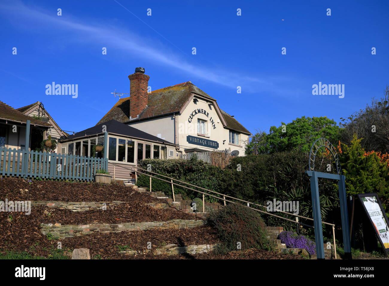 Cuckmere inn, a Vintage Inns pub in Exceat, East Sussex, UK - Stock Image