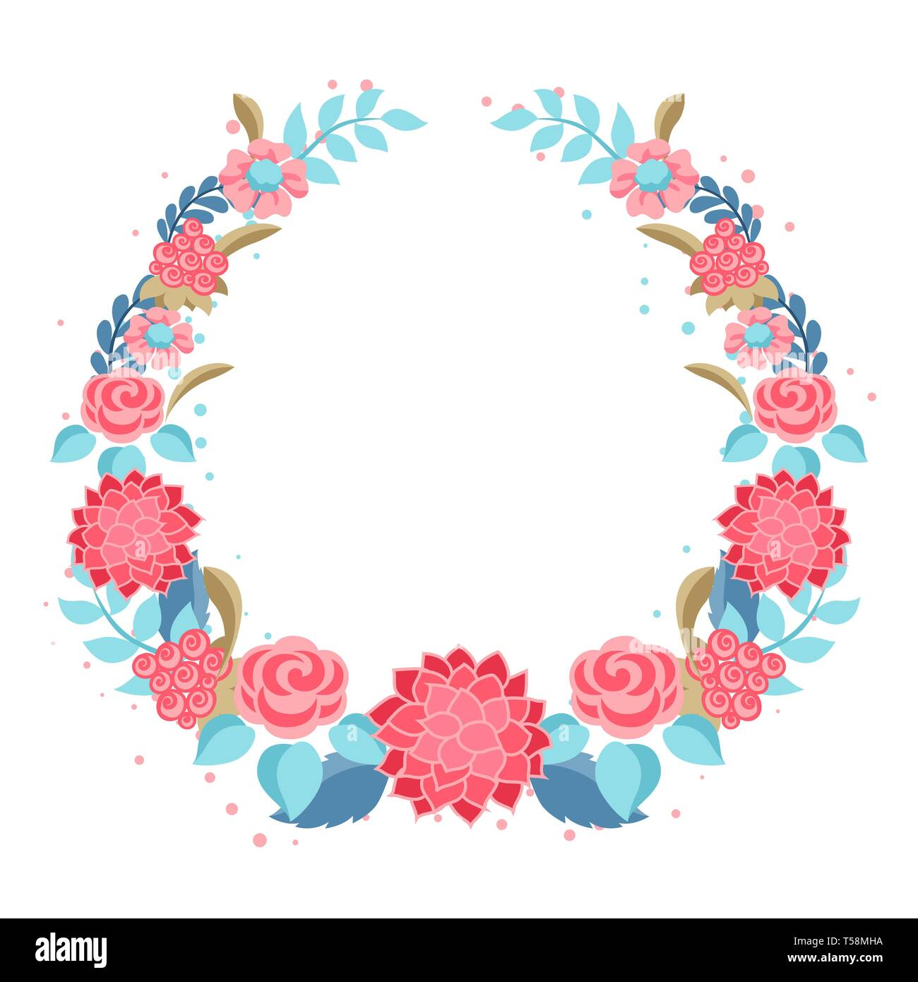 Frame with gentle flowers. - Stock Vector