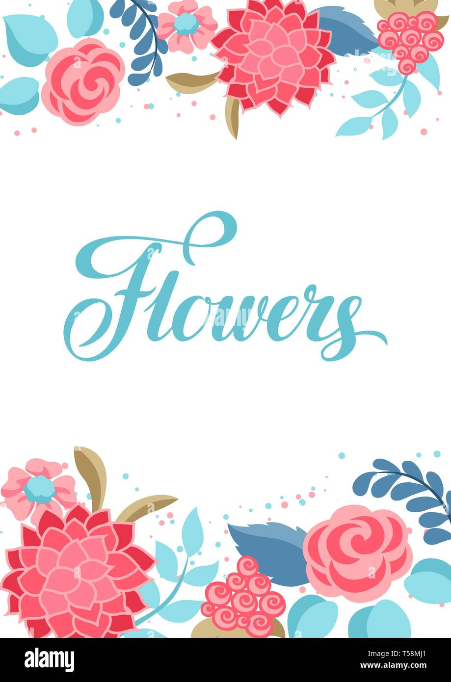 Background with gentle flowers. - Stock Vector