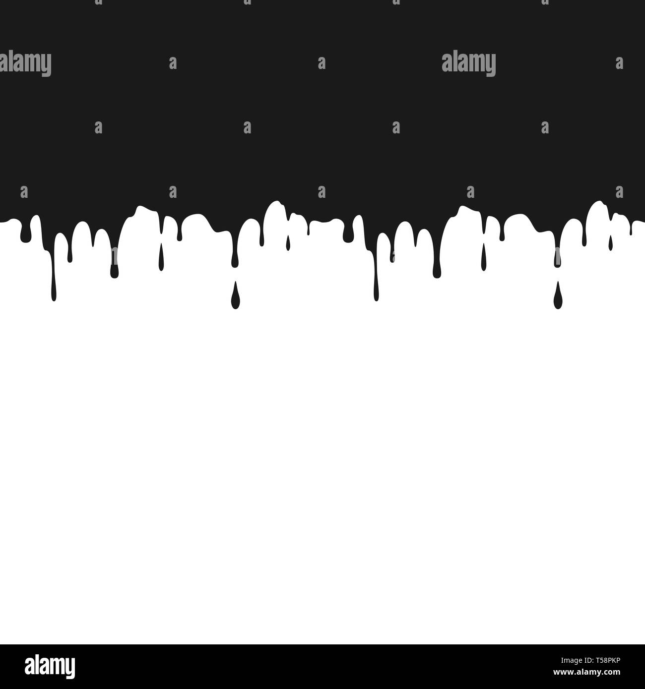b99159997b7e5 Black ink drips. Seamless Dripping Paint Texture. Splatters and Dripping.  Vector illustration isolated