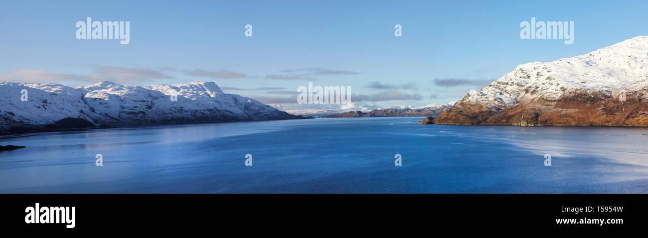 Loch Nevis from Tarbet, Scotland, Britain. Stock Photo