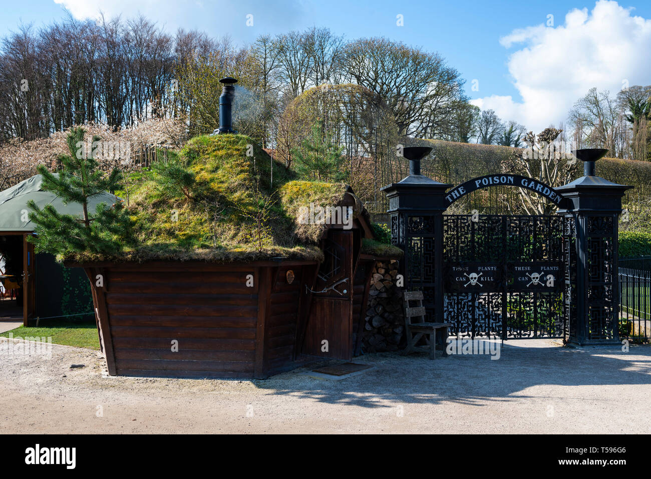 Entrance to Poison Garden at Alnwick Garden, Alnwick, Northumberland, England, UK - Stock Image