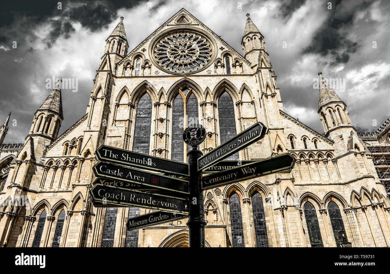 York Minster - Stock Image