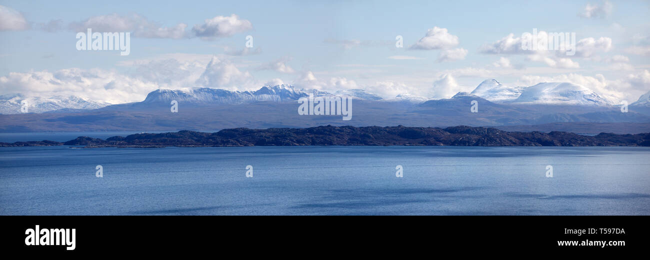 Sound of Raasay from Rigg, Skye, Scotland, Britain. Stock Photo