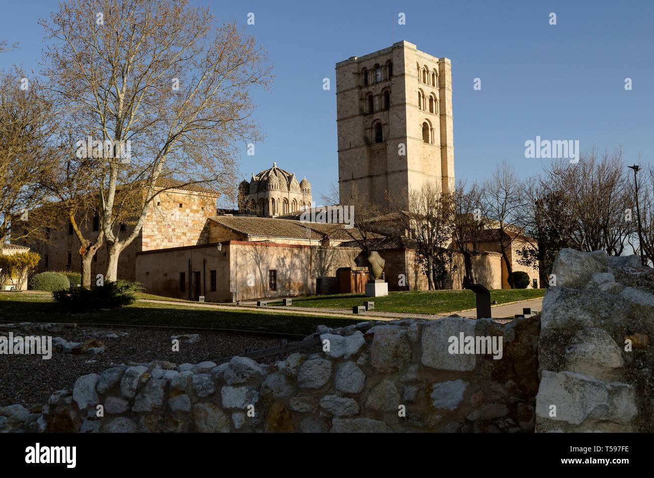 Zamora, Torre de la Catedral y cimborrio - Stock Image
