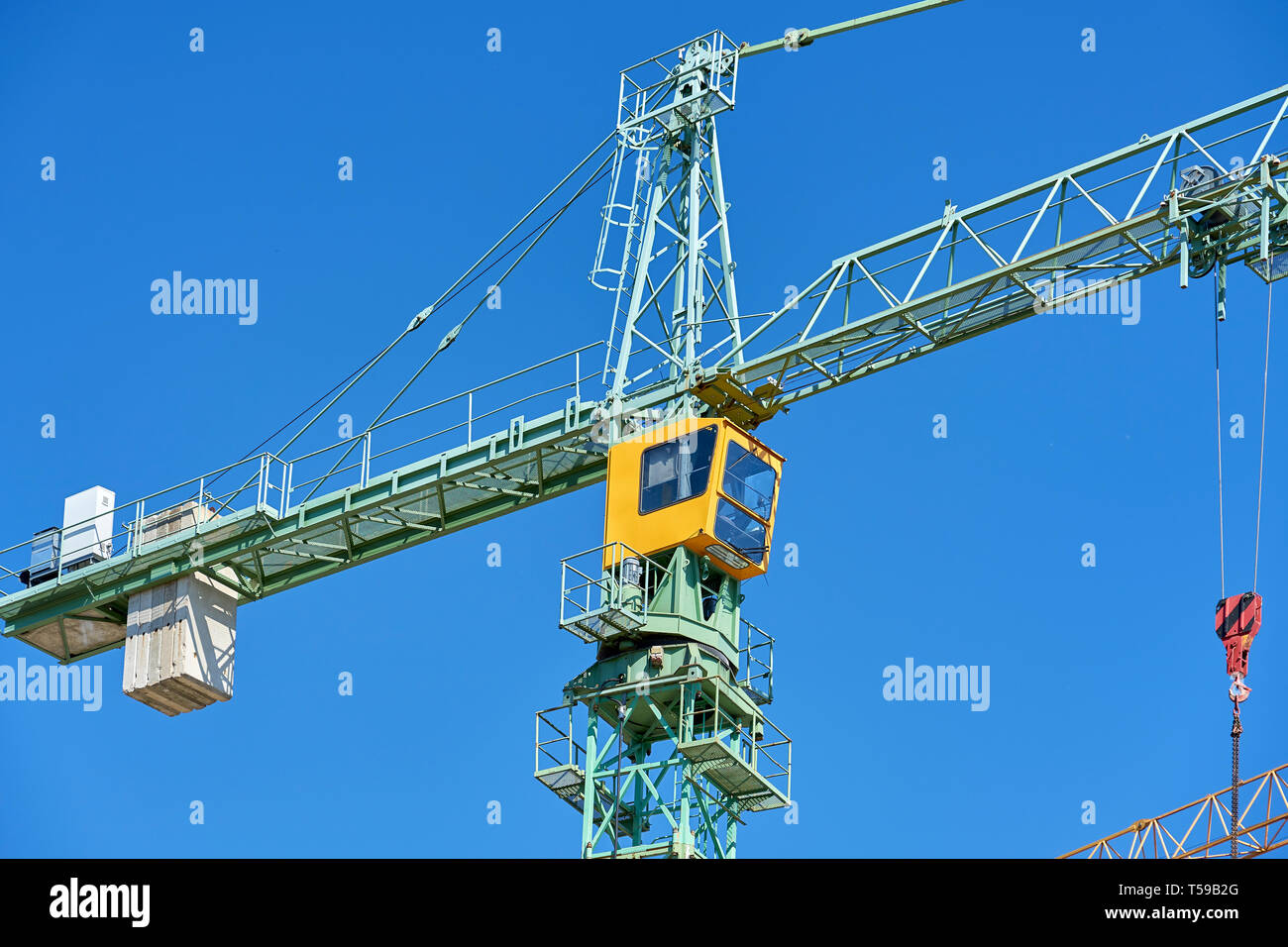 Ein Kran auf einer Baustelle Stock Photo