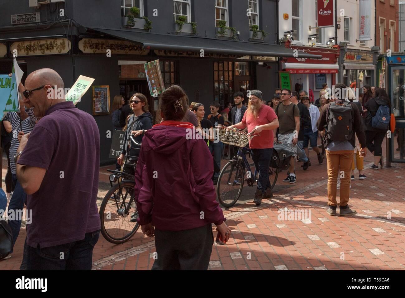 Cork, Ireland, 20th April, 2019.   Extinction Rebellion Protest, Cork City. - Stock Image